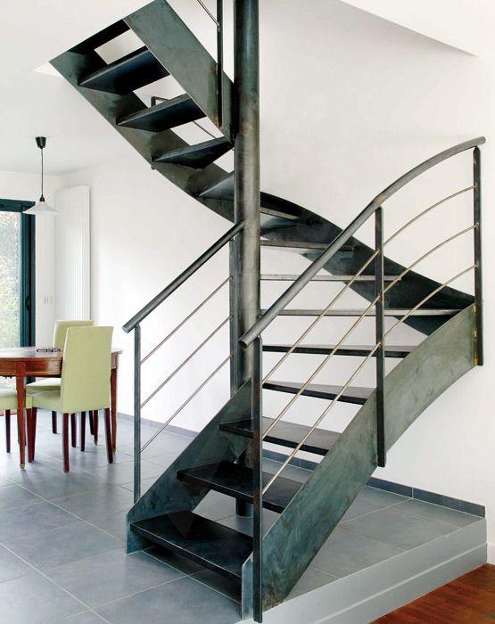 1000 id es sur le th me main courante sur pinterest escaliers escalier h lico dal et acier for Comescalier helicoidal acier