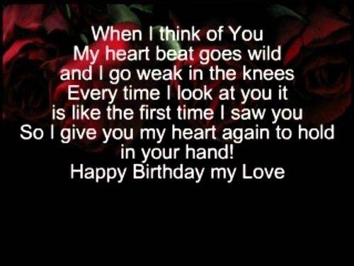 best birthday poems for girlfriend