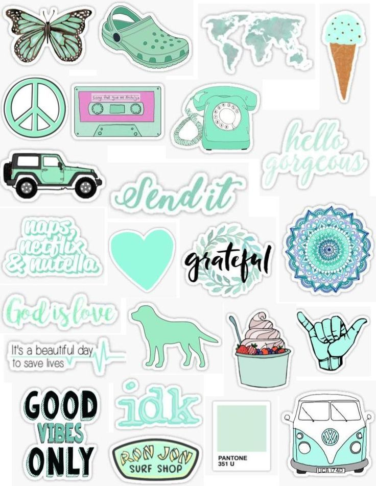 photograph relating to Printable Stickers Tumblr referred to as Wallpaper Tumblr - Mint Stickers