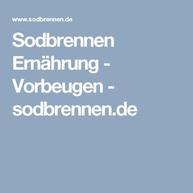 Sodbrennen Ernährung - Vorbeugen - sodbrennen.de