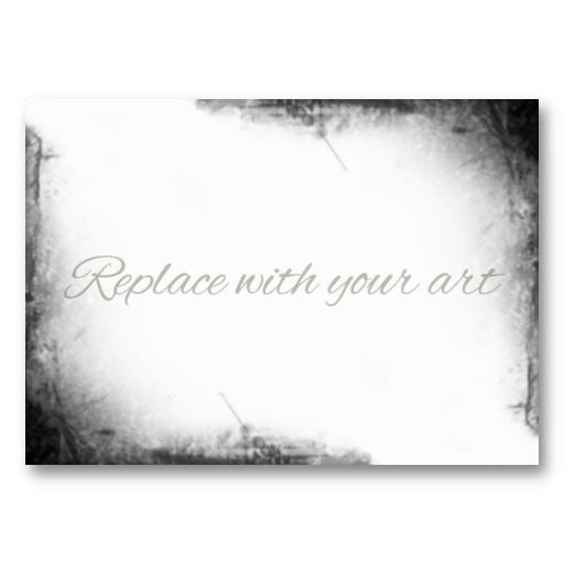 Blank Business Card Template | Blank ACEO Artist Trading Card Grunge Corners Business Card Template ...