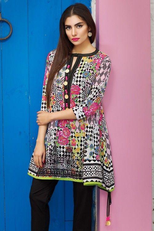 Libasco | Khaadi 2 Piece Stitched Embroidered Lawn Suit - I17104-B - Black | Buy Pakistani dresses online. Salwar Kameez & salwar suit by Pakistani designers. Stitched original designer dresses from Pakistan.