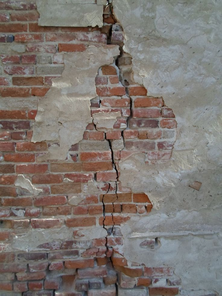 Cracked brick wall, China Alley, Hanford, California. DSMc.2012