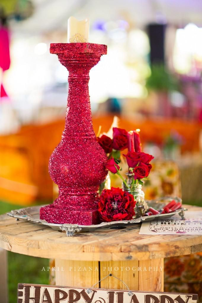 Glittered Centerpieces by Junk Gypsy