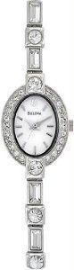 Women's Stainless Steel Dress White Dial Crystal Links Pendant Bulova. $291.00