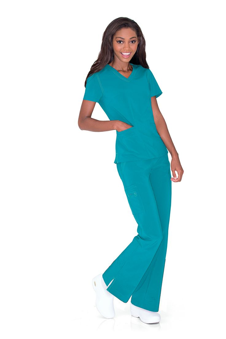 "NEW! Urbane Performance now comes in ""Mediterranean"", like the MOTIVATE top. #urbane #scrubs #medical #fashion #urniforms #hospital #nurse #nursing #rn #lpn #lvn #cna #dental #hygienist #vet #tech #spring #green #march #stretch"