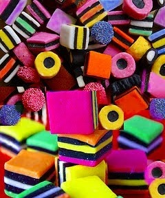 Licorice Allsorts. An old time favourite New Zealand sweet.