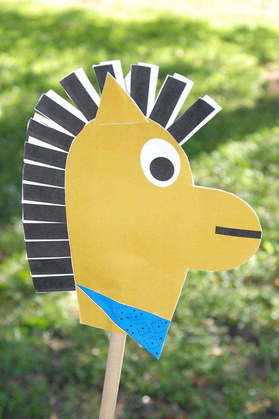 how the west was won DIY paper stick horse for you next western party :)