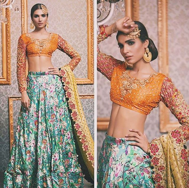 Beautiful bridal lengha by @aabrar image via @sundaytimes | #thebrowngirlguide | #pakistanifashion #indianfashion #f4f #desicouture #desifashion #follow #l4l #indianweddings #desiweddings #pakistaniweddings #pakistanibrides #indianbrides #indian #india #like #lb #pakistan #pakistani #lollywood #bollywoood #desi #fashion #style #luxe #vogue #couture #makeup #hair