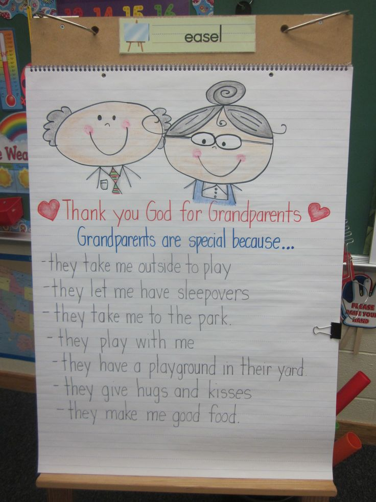 Grandparents Day...might need to change it up a little, but nice idea!                                                                                                                                                      More