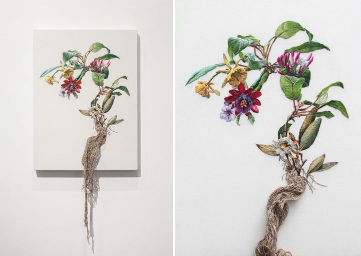 Artist Uses Colorful Embroidery to Explore Natural Forms - My Modern Met