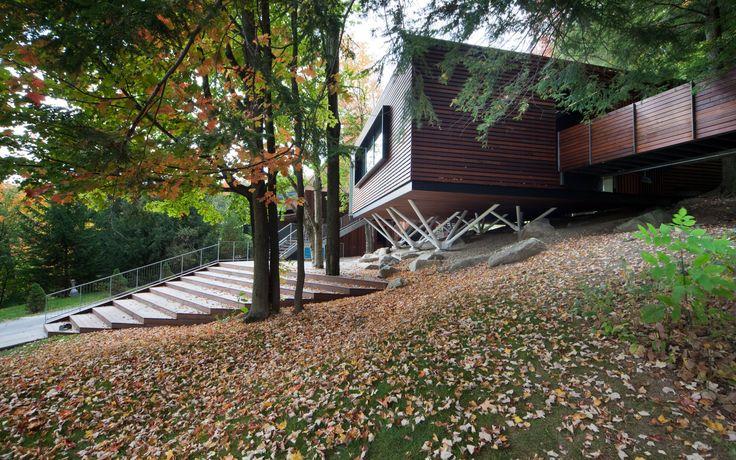 Balnea : Pavillon des arbres | Blouin Tardif Architecture Environnement. Modern Wood Steel structure acier pavilion