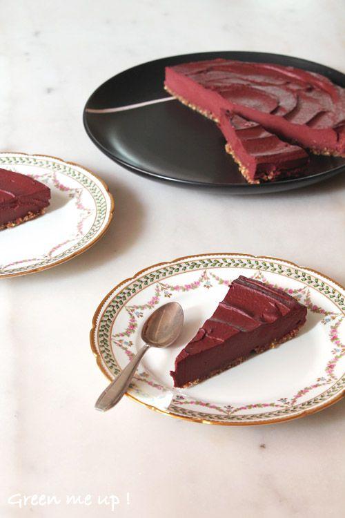cheese-cake-chocolat-betterave-noisette sans cuisson