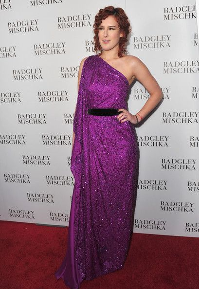 Rumer Willis Evening Dress - Rumer sparkled in a purple evening gown at the Badgley Mishka store launch.
