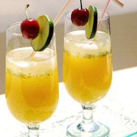 Ginger Peach Spritzer, a recipe from the ATCO Blue Flame Kitchen.