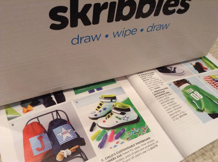 Skribbies in the 2014 notonthehighstreet Christmas catalogue and selling like hot cakes!!