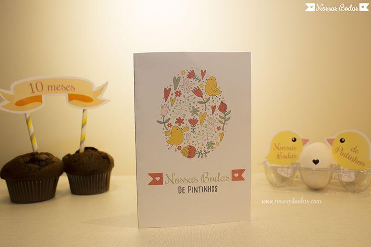 Cartão para Bodas de Pintinhos | Material gratuito disponível no blog Nossas Bodas