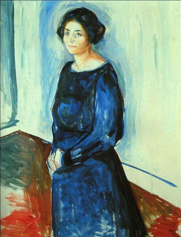 뭉크, 파란 옷을 입은 여인, 1921