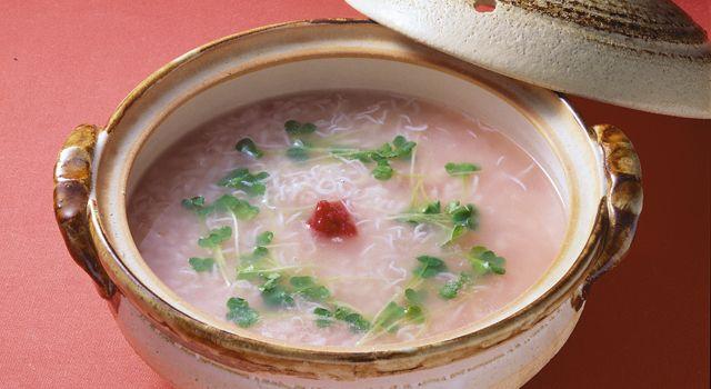 梅しらす雑炊レシピ