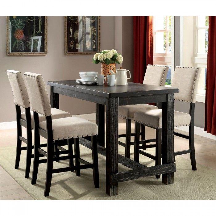 SANIA II Counter Height Table Set Furniture of America