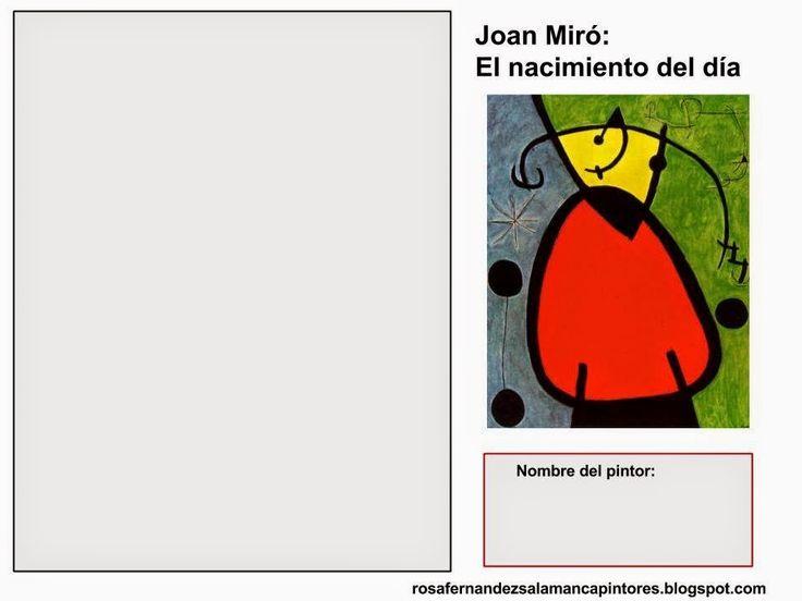 Cuadro Para Colorear Para Cuadros De Miro Para Imprimir Y Dibujos