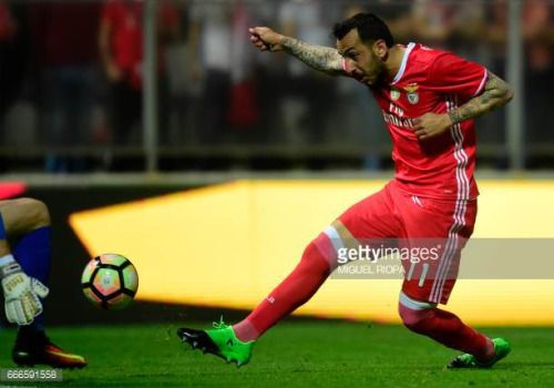 04-10 Benfica's Greek forward Konstantinos Mitroglou ®... #agioskonstantinos: 04-10 Benfica's Greek forward… #agioskonstantinos