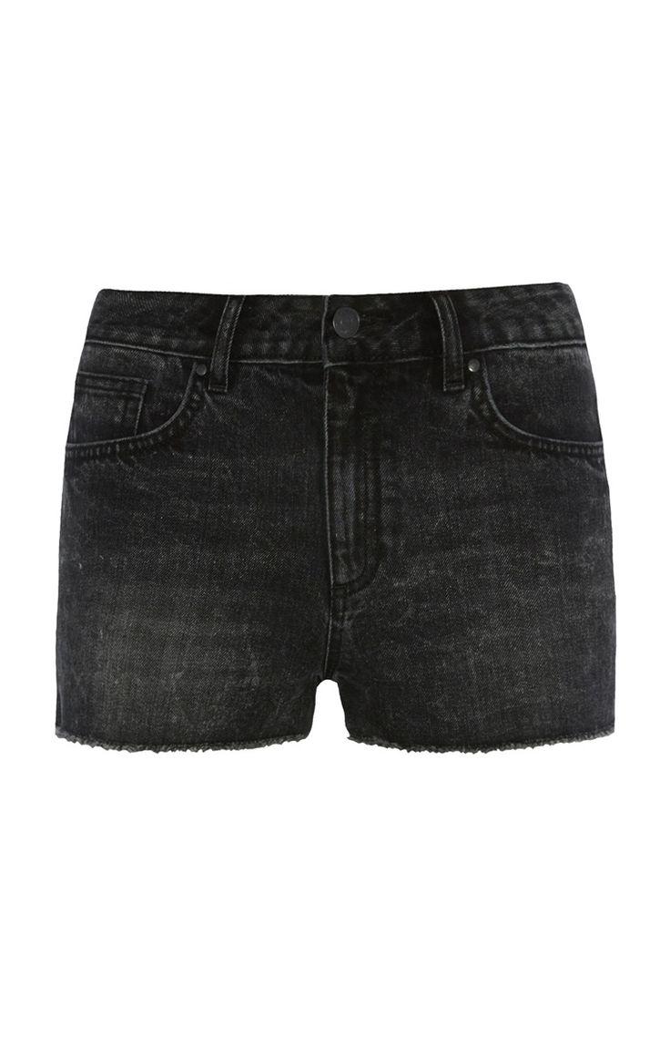 Zwart short met hoge taille