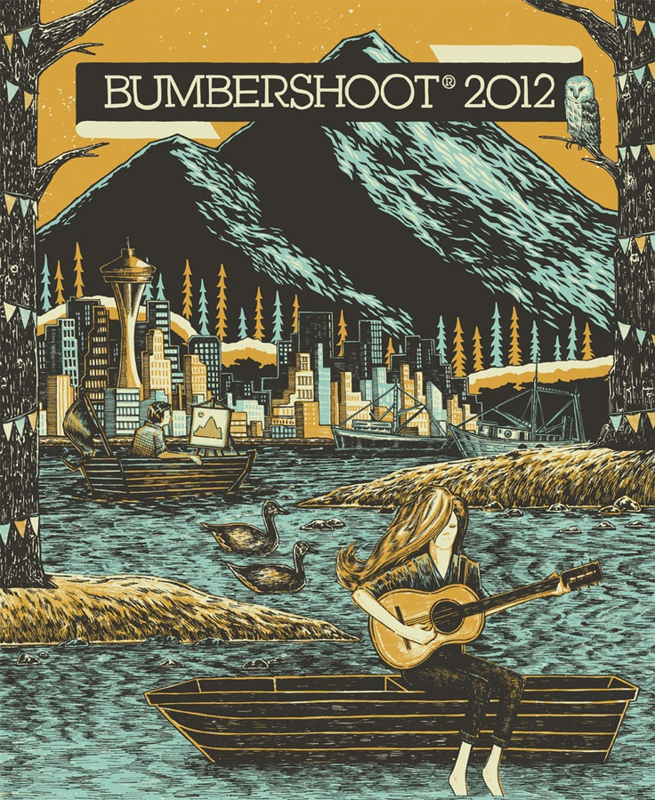Bumbershoot music festival 2012--poster design by the talented John Vogl, aka The Bungaloo