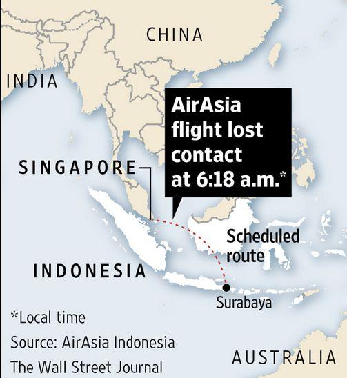 Εξαφανίστηκε από τα ραντάρ αεροπλάνο της AirAsia - Νεα, Γενικες πληροφοριες.