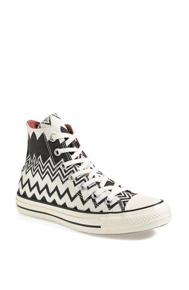 Converse x Missoni Chuck Taylor All Star High Top Sneaker (Women) Womens  Black/ Egret 8 M