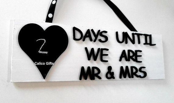 Wedding countdown plaque marriage plaque engagement gift on Etsy, $15.45
