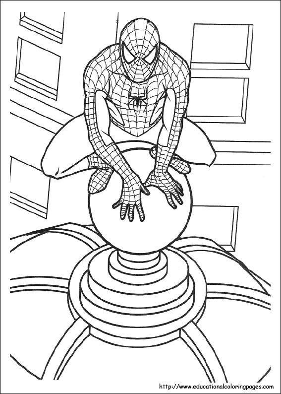 Spiderman Printable Pages Inkleur Prente Pinterest