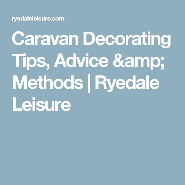 Caravan Decorating Tips, Advice & Methods | Ryedale Leisure
