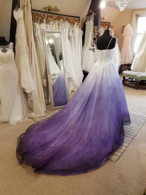 Purple And White Wedding Dress Purple Wedding Dress Ombre