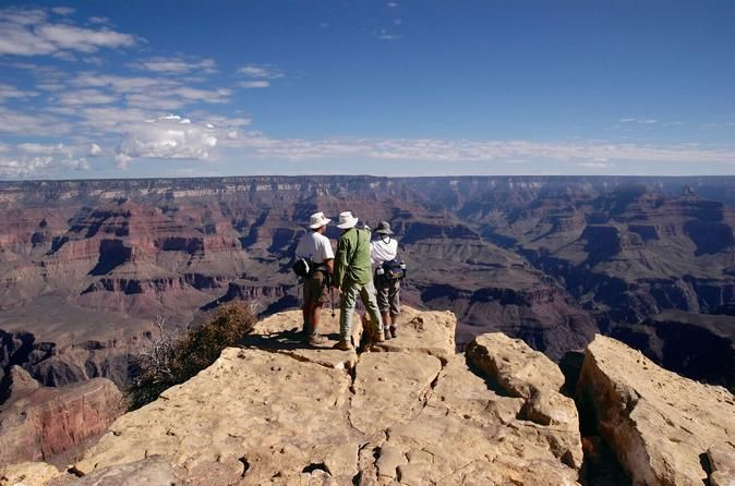 2-Day Grand Canyon Tour from Las Vegas  						Explore the wonders of Grand Canyon National Park on this activity-packed 2-day tour from Las Vegas. Attend ranger talks, spot wildlife, see the IMAX movie, hike into the canyon and witness sunset from the canyon's rim. Capture photos of the incredibly intricate and colorful canyon walls and opt to take a helicopter ride for even more dramatic views. On your way to the canyon, enjoy visits to the magnificent Hoover Dam and famous ...