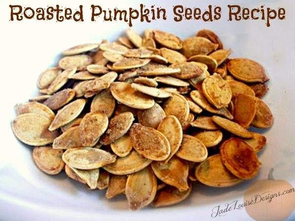 Roasted Pumpkin Seeds - YUM!! Make these every year, this is my favorite recipe yet. I'll definitely repeat it!