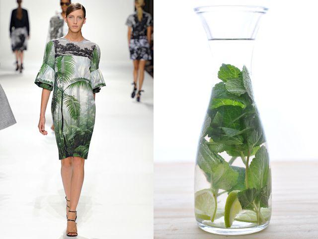Dries Van Noten ss 2012 / Mint and lime flavoured water