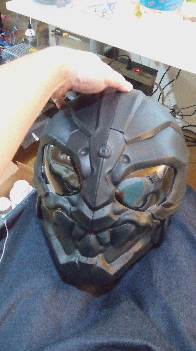 There is my some  3D Print helmet Art work, 1 month ago , it is funny and I enjoy it . 一個月前為朋友製作的有趣頭盔作品,3d 列印是非常有趣的工作 :)