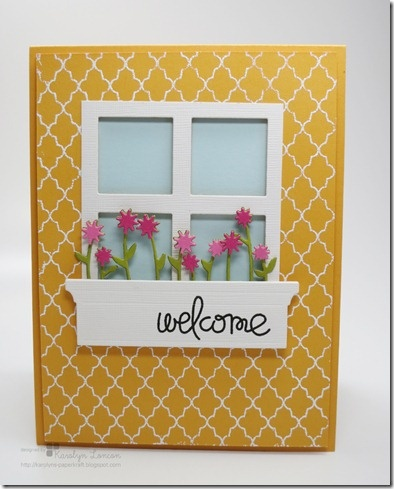Guest Designer Karolyn project - I really like this :) could even say Welcome Home for any new house purchases :)