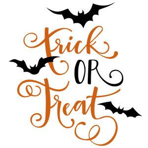 Silhouette Design Store: trick or treat phrase