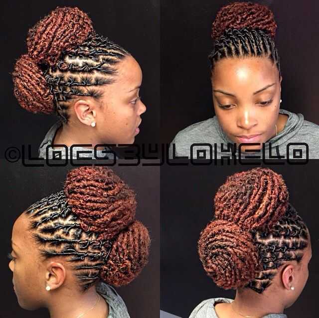 285 best luscious locz bun images on pinterest dreadlock double bun pmusecretfo Image collections