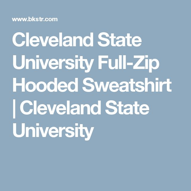 Cleveland State University Full-Zip Hooded Sweatshirt | Cleveland State University