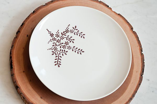 DIY Sharpie plate from The Sweetest Occasion