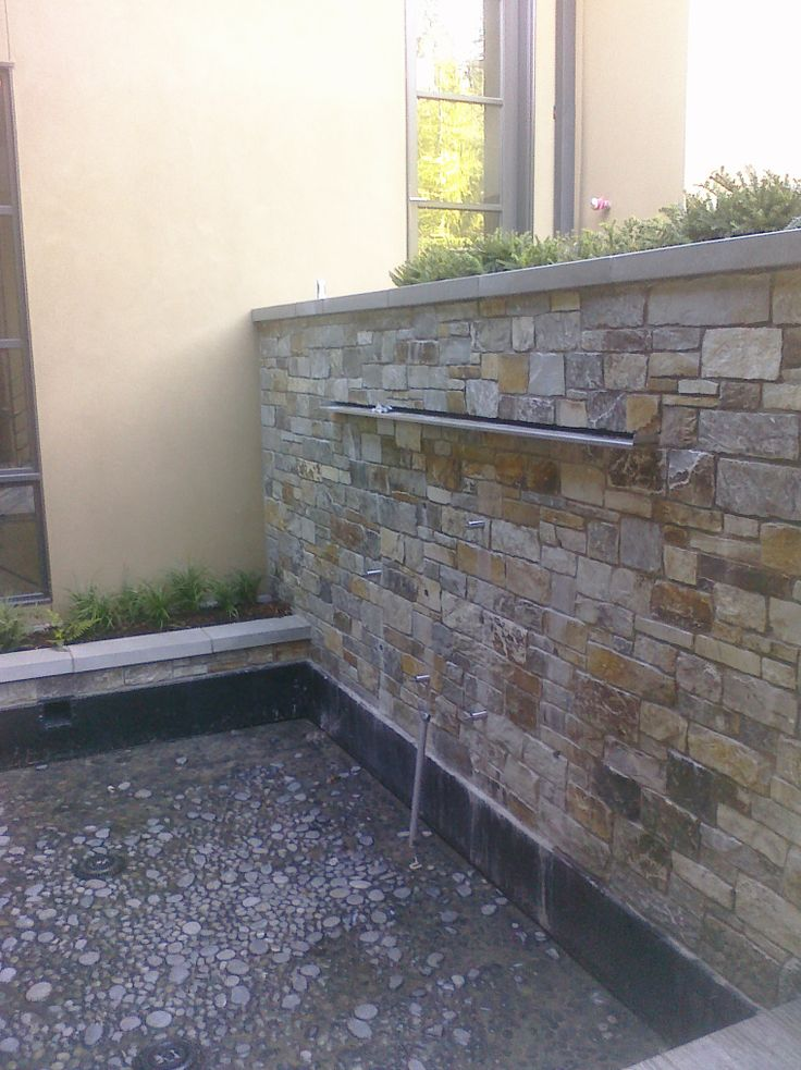 Wall Water Features Stone Wall Water Feature Palm