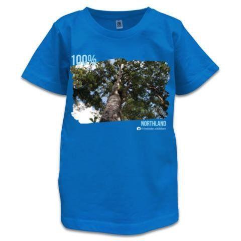 NZ Children's T-Shirt -Cambridge Blue - 100% Northland