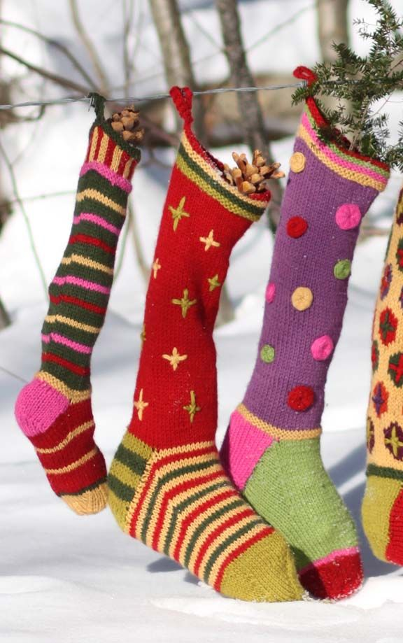 34 best Knitted Christmas stockings images on Pinterest | Gestrickte ...