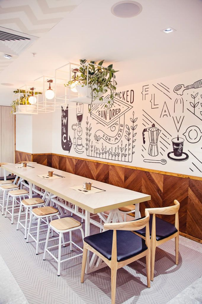 wall design cafe