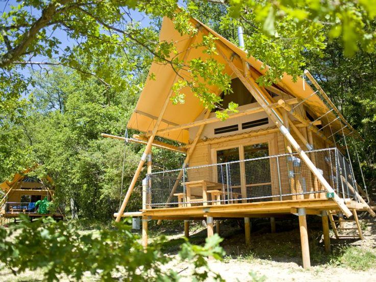 #Camping Huttopia à #Dieulefit dans le #Drôme