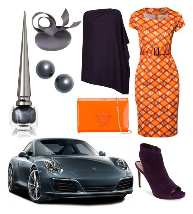 """Matching my porche"" by pinnulinen on Polyvore featuring Christian Louboutin, Harrods, Via Spiga, Versace and Charter Club"