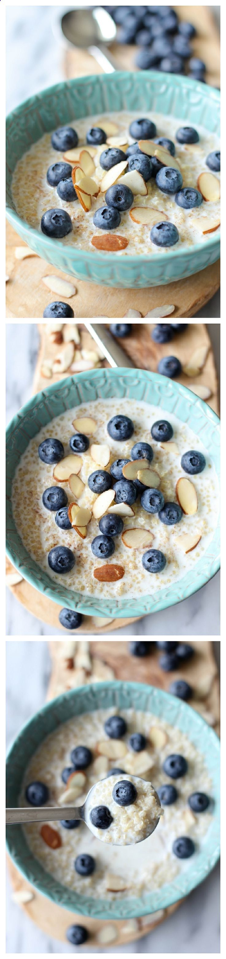 Blueberry Breakfast Quinoa Protein Packed Breakfast